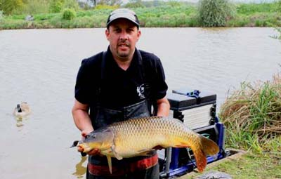 Kev Sims with his 20lb pole caught carp