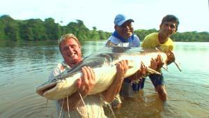 Steve Townson of Amazon-Angler.com with a mighty paraiba catifsh