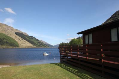 Argyll Holiday homes overlooking Loch Eck.