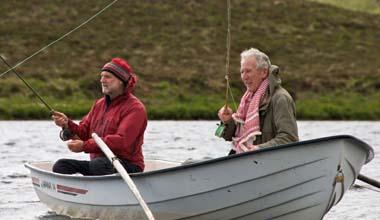 Fishing Loch Haluim, Sutherland.
