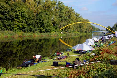 The Zaranksi Canal, Poland, venue for the 2013 world match fishing championships