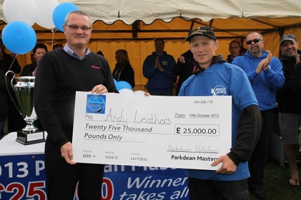 Andy Leathers wins Parkdean Masters 2013.jpg