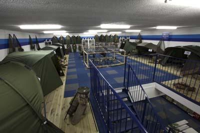 The new carp showroom at Bristol Angling Centre