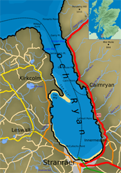 Map of Loch Ryan. Pic: Wiki