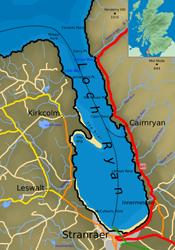 Map of Loch Ryan. Pic: Wiki
