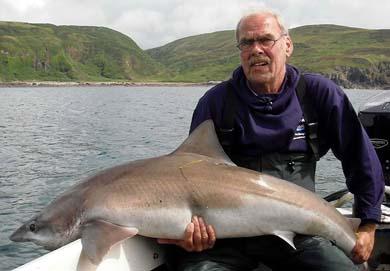 Tope fishing at Loch Ryan
