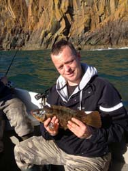 Wrasse fishing Loch Ryan