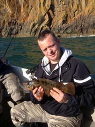 Wrasse fishing Loch Ryan