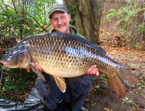 Ian Russell with a 38lb common carp from Horton