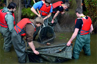 netting and husbandry training