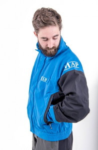 The new MAP waterproof jacket.