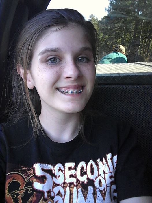 Girl angler photographs ghost
