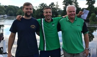 Winner Hadrian Whittle (Centre) with fellow qualifiers Kevin Hall (Left) and Mark Downes (Right) (hi res image available)