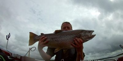 17lb 2oz brown trout from Lough Ree