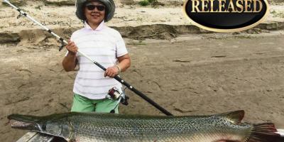 ladies line class record for aligator gar 2017