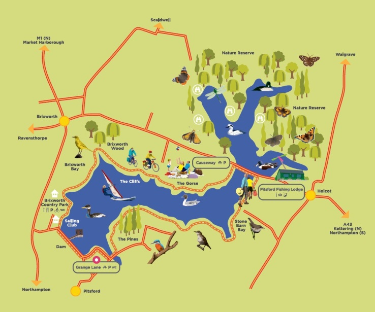 Pitsford Water map
