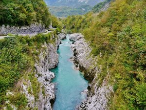 Slovenia's picture postcard Soca River is famous for it's world class sight fly fishing and, in lower reaches, the stunning marble trout.