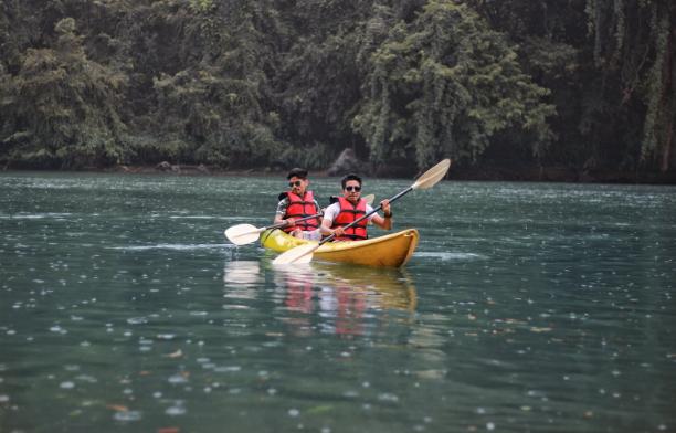 Kayak on freshwater