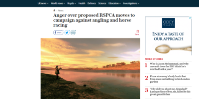 anger over rspca moves to ban angling
