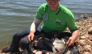 Will McCranor with his section winning catch of 32kg from day one