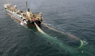 super trawlers in the North Sea