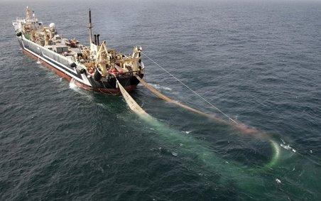 super trawlers in the North Sea
