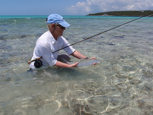Fly fishing for bonefish on the Florida flats