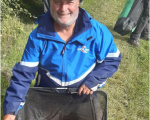 Paul Abbott with his winning catch from opposite Yardley marina