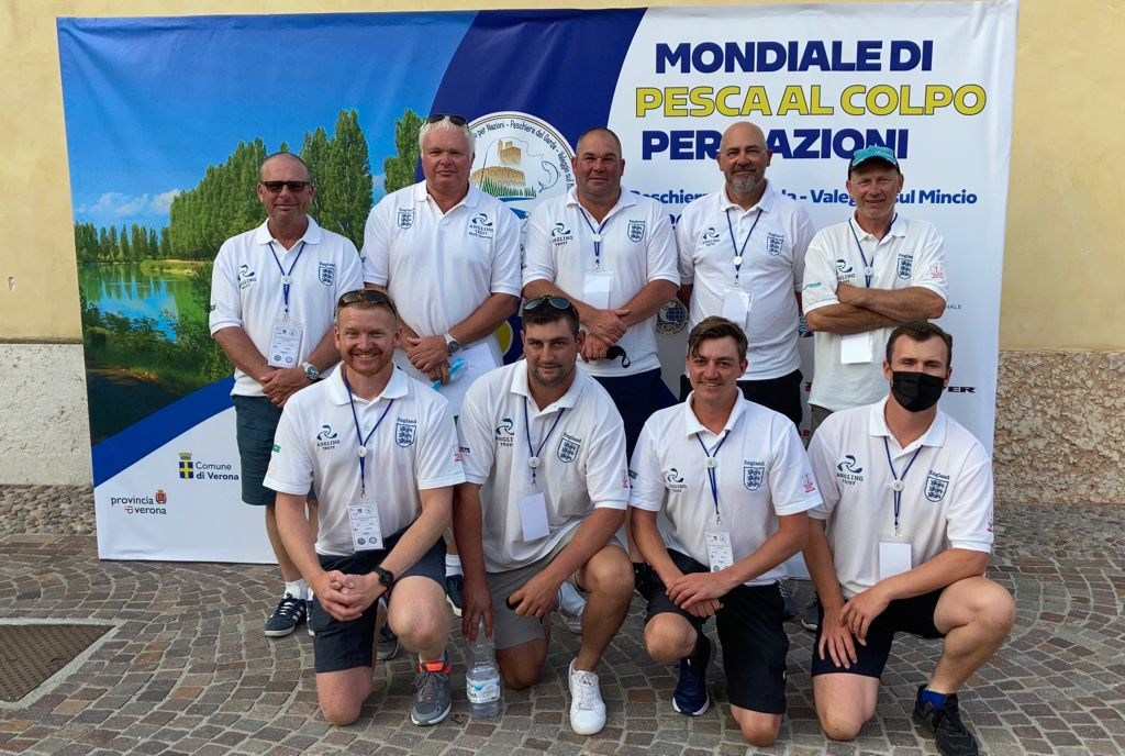 After much toing and froing, we finally made the decision to go to this year's World Championships in Italy. Travel In Italy we are considered 'Elite Athletes', giving us an exemption from the 5-day quarantine due to competing in an international event. All proceeded with their pre-travel tests and passenger locator details, giving us a smooth passage to Italy with no border problems whatsoever. Equipment Poles/Rods Long Pole rigs – 1g to 4g Long Pole Flat Float Rigs – 3g to 15g Pole Rigs (5-7m line) – 0.8g to 2g Bolo Rods (7m and 8m) – floats 4-8g Slider Rods – floats 8+3 to 12+3 Bait Generally, we all had: 15L of Ground Bait – Sensas Gialla, Fine Carp, and Gros Gardons 4L of Fine Stones for Sticky Mag 1.5L Maggots 100ml Dead Maggots 250ml Casters 100ml Floating Casters 100ml Pinkies 250ml Jokers 200ml Earth Worms A total of 2.5 Litres, which all had to be shown at the 'Bait Check'. 5-Day Training The river was up to 6m deep, clear, and quite pacey. We all realised very quickly that this was going to be a tough one. The two main species were scardola, a small roach/rudd type species, and chub. Preparation was extensive. However, the 'boxes' we were allocated for the 5 days of practice were soon found to be the worst we could have got. Post-match results confirmed this. As a result, we caught very little during our practise week, but, with great on the bank feedback from assistants Darran Bickerton (Coach), Nathan Hughes and Mark Derry, we soon learnt we had to consider a multitude of methods. Our long post-practice team meetings began to put together some form of plan – a plan that had to be flexible due to the nature of the pegs. Tactics On Day 1 we all put 5 Litres of GB in at the start on our selected long line (needed to find a decent 'run' maybe 11.5m – 13m. Into this we put 100ml Casters, 50ml Dead Maggots, 50ml Floating Caster and 100ml Joker. This was 'balled' with hard balls to slowly release the particles inside. On top of this bait, we pottered 2 or 3 ba